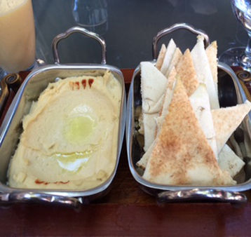 Hummus and Pita Bread Bite, Bahrain